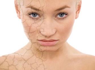 Damaged skin