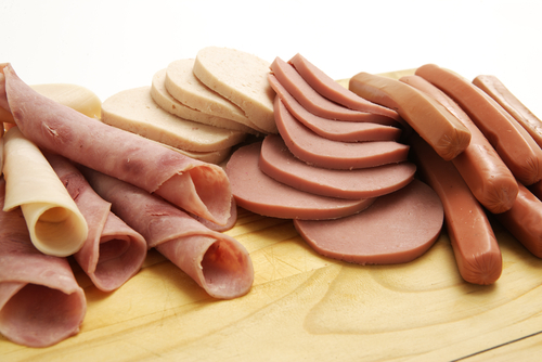 variety of processed meat products ham hotdog