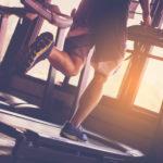 man running on treadmill for cardio