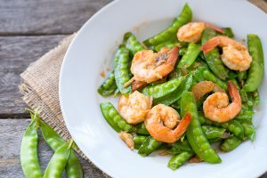 shrimp and peas, super food