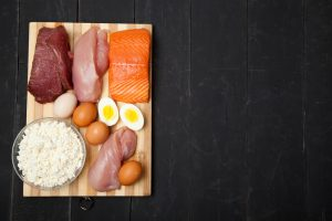 high protein food, chicken breast, salmon, egg, cottage cheese, meat