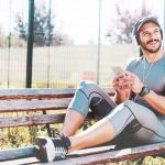 rest and recovery after workout of man who uses Progentra