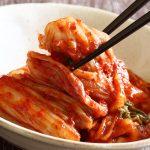 kimchi with chopsticks
