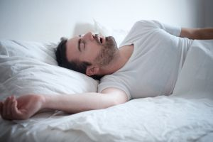 man with sleep apnea