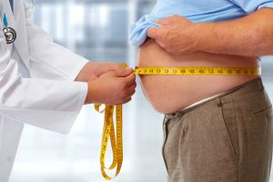 obese man consult doctor