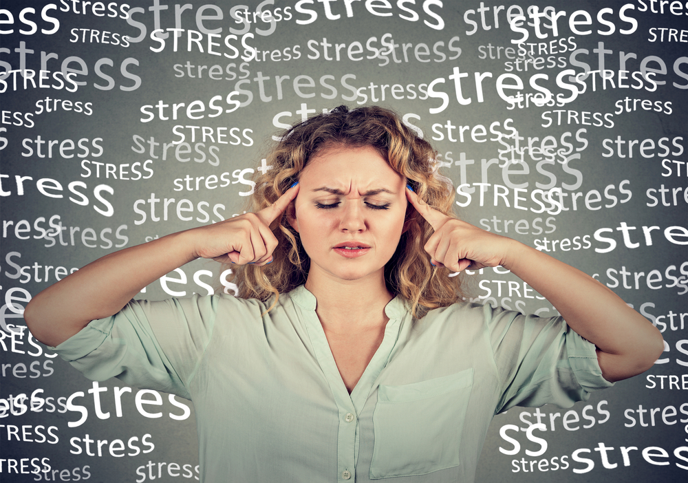 woman and overwhelming stress