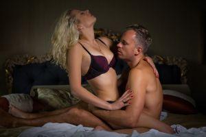 sensual and erotic couple